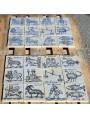 Segni zodiacali antichi pannello di maiolica 60 X 45 cm