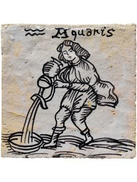 AQUARIUS zodiac sign a tile 35 €