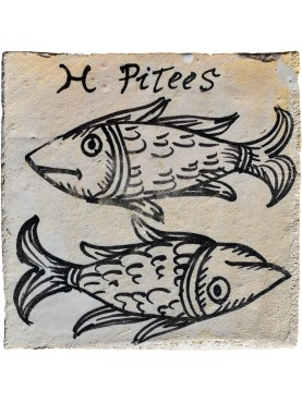 PISCES zodiac sign a tile 35 €