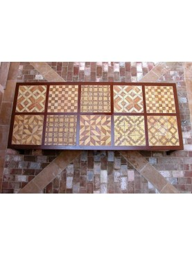 Wrought iron table with 90 majolica tiles