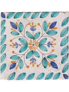 reproduction of an ancient Palermitan majolica tile
