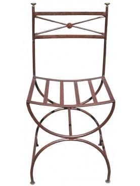 Sedia in ferro con gambe a centine Ferragamo da giardino