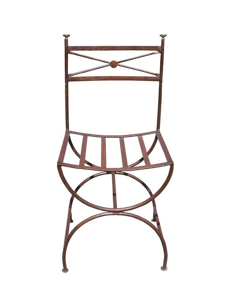 Sedia in ferro con gambe a centine Ferragamo da giardino - Recuperando