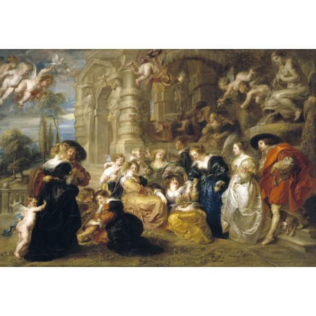 The east garden of love is a painting by the painter Pieter Paul Rubens, made in oil on canvas between 1632 and 1633.