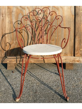 six Early 20th century iron chairs - restored