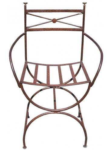 Large armchair wrought-iron - emperor style Ferragamo