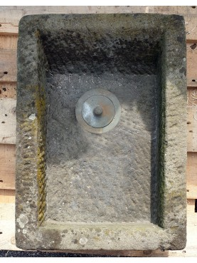 Mangiatoia Toscana antica originale in pietra arenaria