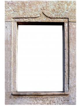 Ocher limestone window