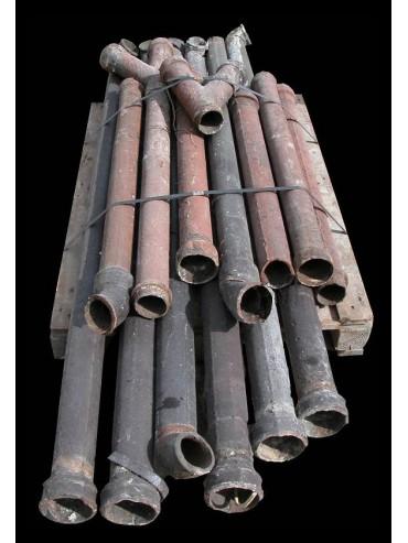 Tubi pluviali in ghisa antichi di recupero