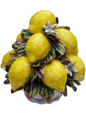 Piramide di limoni con fiori trionfo di frutta piccolo