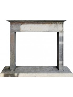 SMALL FIREPLACE WITH DOWNWARD WORKING - MALVINA