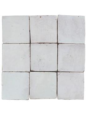 Piastrelle Marocchine fatte a mano 10x10 cm BIANCHE
