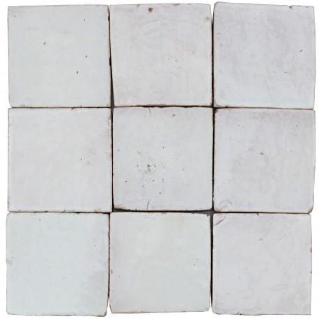 Handmade Moroccan tiles 10x10cm WHITE
