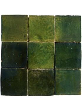 Handmade Moroccan tiles 10x10cm GREEN