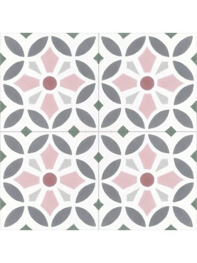 Hydraulic cement tiles celestial background with white star