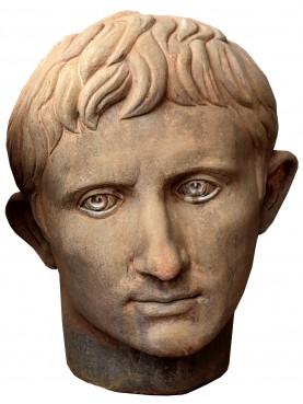 Cesare Ottaviano Augusto busto in terracotta