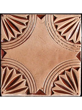 Piastrella a ceramica impressa