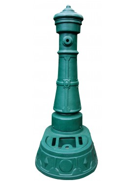 Green cast iron garden fountain H.120cm