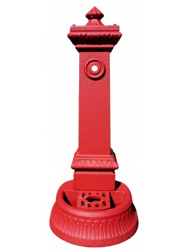 Small red Milan fountain H.86cm