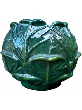 La Verza in terracotta maiolicata