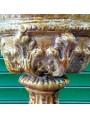 VASO LUCCHESE ottocentesco in terracotta maiolicata di nostra riproduzione
