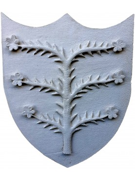 Plaster cast coat of arms of the Malaspina spino fiorito