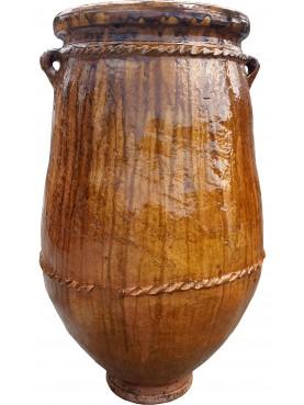 Vasi rigati del Sahel H.99cm in maiolica