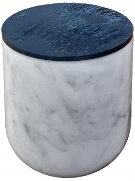 Contenitore in marmo bianco di Carrara e ardesia per le acciughe salate