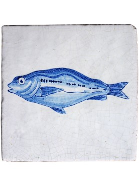 Tile with fish of Delft - Bogue