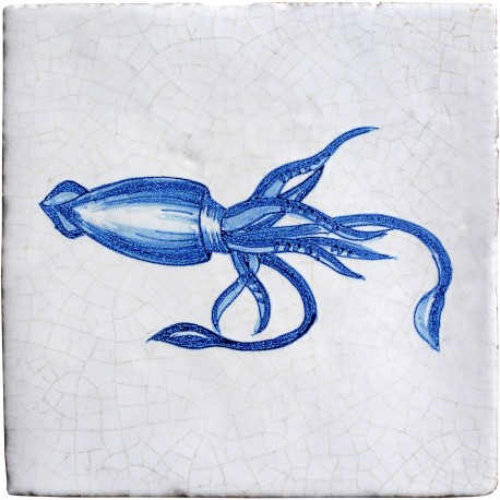Serie pesci delft calamaro
