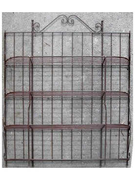 forged iron hand made Belloni's display etagere