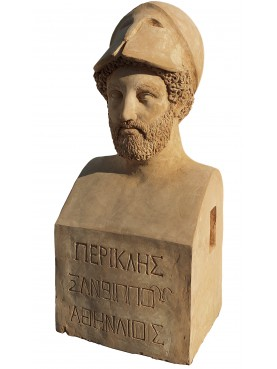 Pericles terracotta herm, copy of the original from the Pio Clementino Museum in Rome
