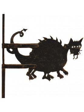 Drago banderuola segnavento in ferro