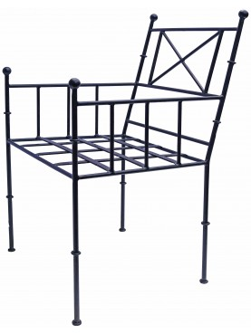 Forged iron TODD armchair our production