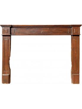 Ancient wooden fireplace walnut wood