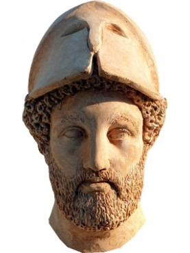 Pericles terracotta head, copy of the original from the Pio Clementino Museum in Rome