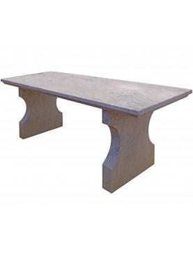 Simple minimalist white Carrara marble table