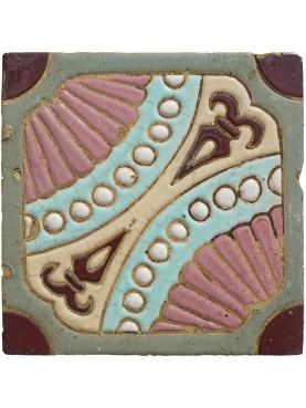 Original ancient Liberty majolica tile