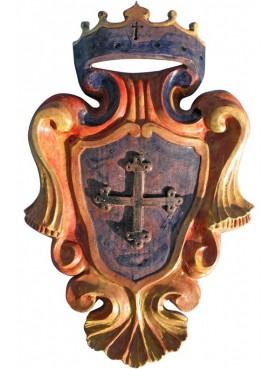 Majolica Coat of arms with Pisa cross