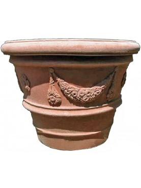Conca festonataToscana Ø95cm terracotta Impruneta