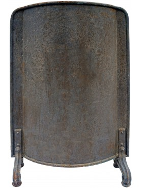 Wrought iron spark arrester with round sheet metal bulkhead