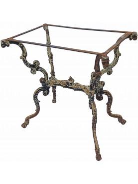 antique rare eighteenth-century Italian cast iron table