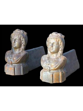 Emperor cast-iron andirons