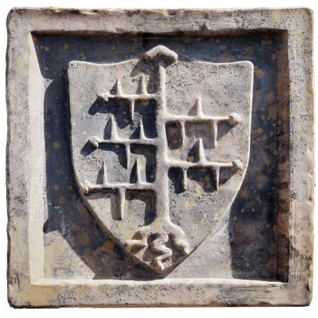 Malaspina's terracotta coat of arms
