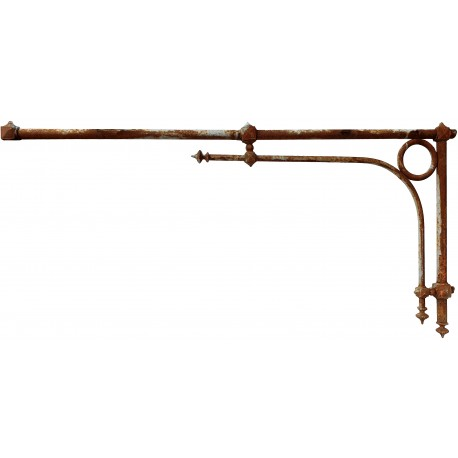 antique original wall lamppost from the 1800s