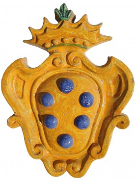 Medici's majolica coat of arms - Delle Robbia