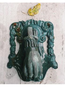 Large bronze door knocker cast with lost wax