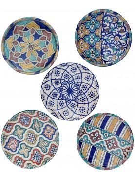 Hand painted majolica plates