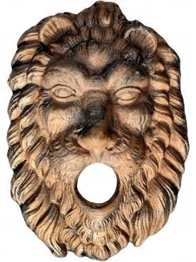 Uncoated bronze lion mask