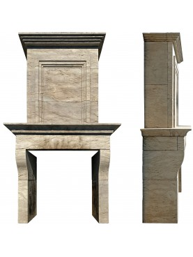 Multineddu stone troumeaux fireplace